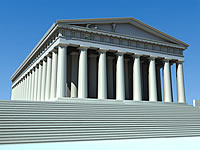 3d architecture parthenon
