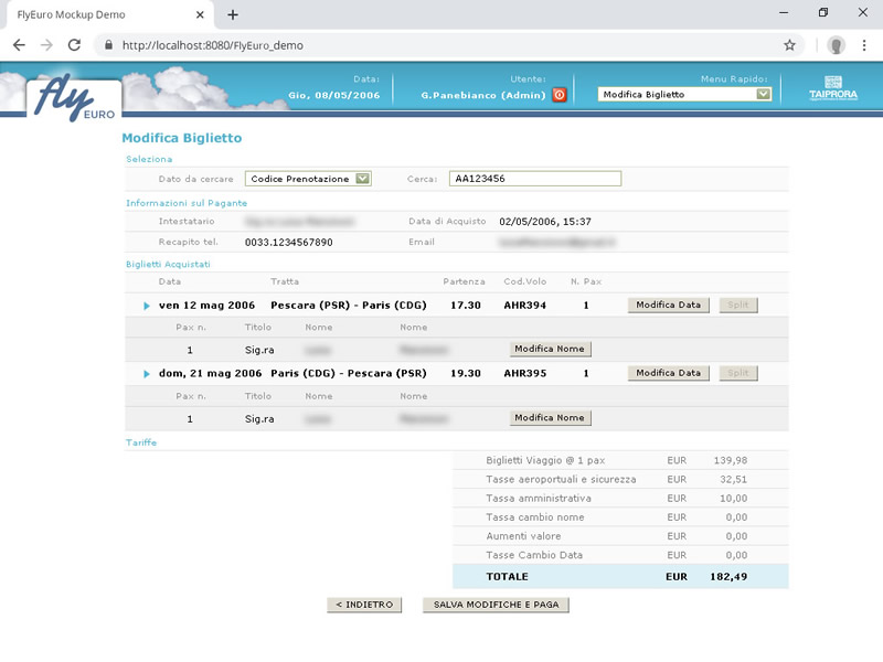 flight management system edit booking