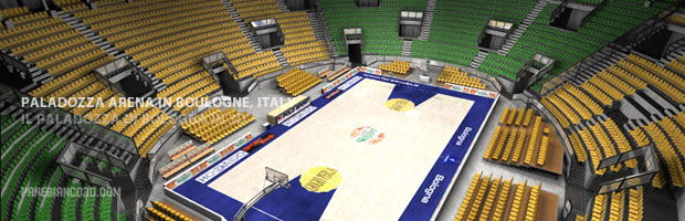 Paladozza Basketball Arena in Boulogne, 3d model