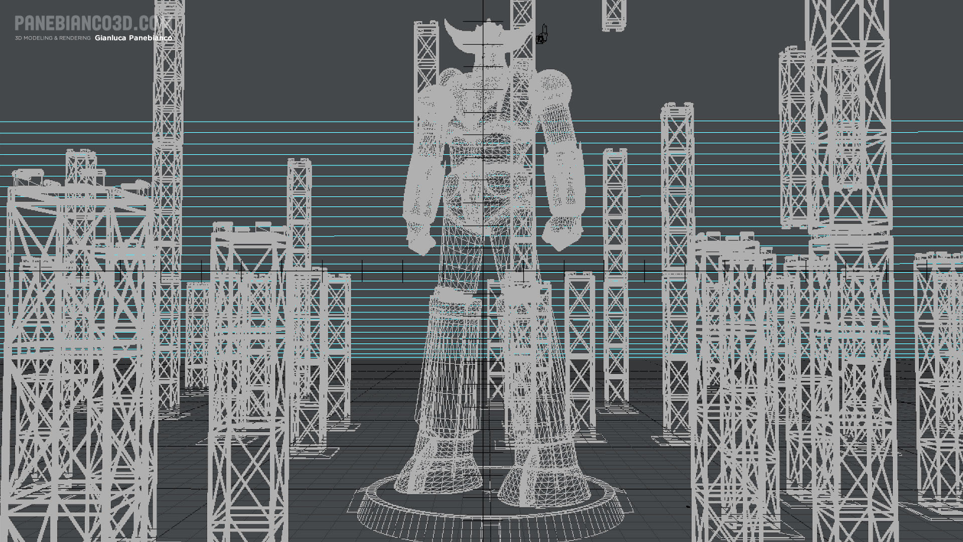 Grendizer in 3d wireframes