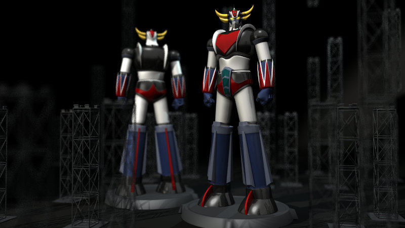 Grendizer in 3d fronte-retro