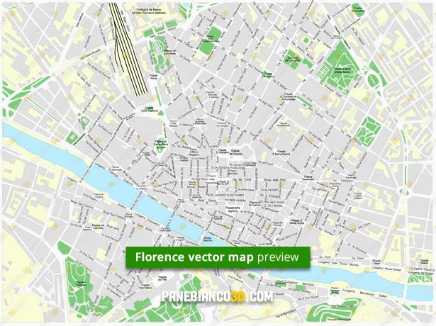 Cartina Politica Italia Alta Definizione.Mappa Di Firenze In Formato Vettoriale Ad Alta Risoluzione Editabile